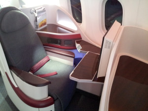 qatarairwaysboeing787dreamlinerbusinessclasssingleseatleftsideatfarnborough2012