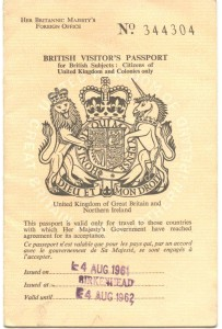 Front cover one year passport 001