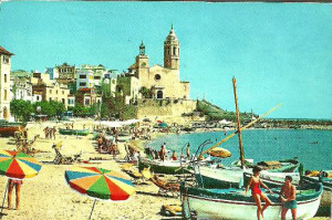 Sitges Beach Scene From 1960s
